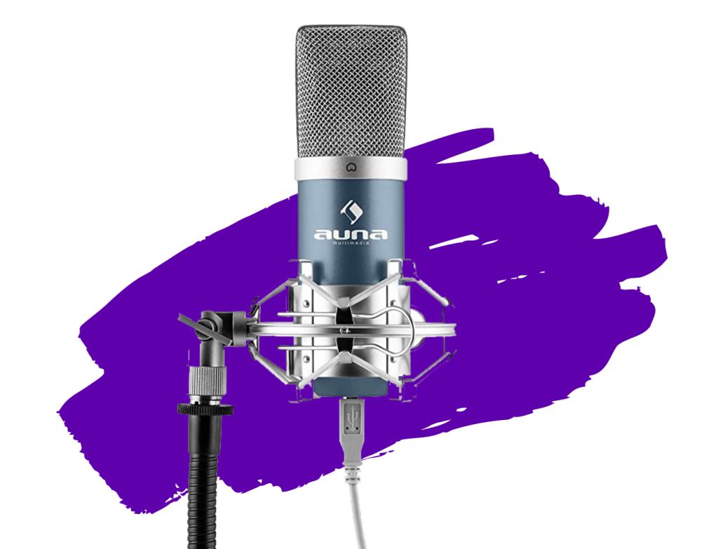 Micrófonos para streaming baratos auna mic-900bl