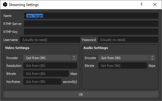 Hacer streamings en varias plataformas obs