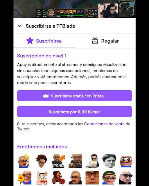 Suscribirse a un canal de Twitch desde el móvil: los tokens de suscripción en iPhone