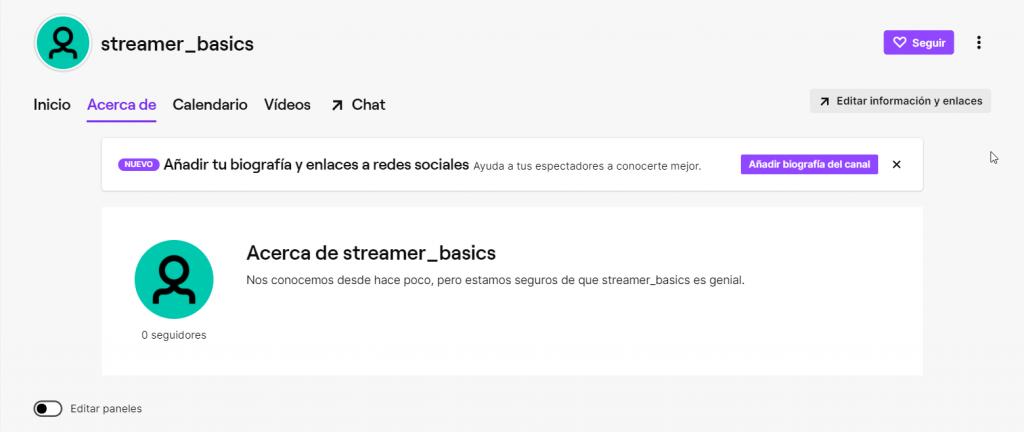 Cómo crear y configurar los paneles de Twitch