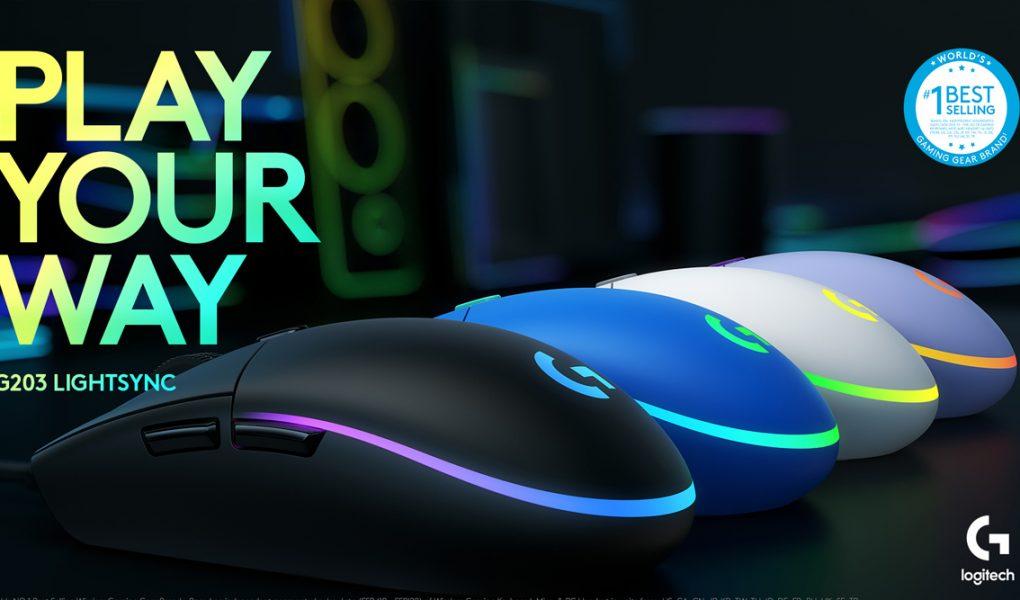 reseña ratón logitech g203 lightsync