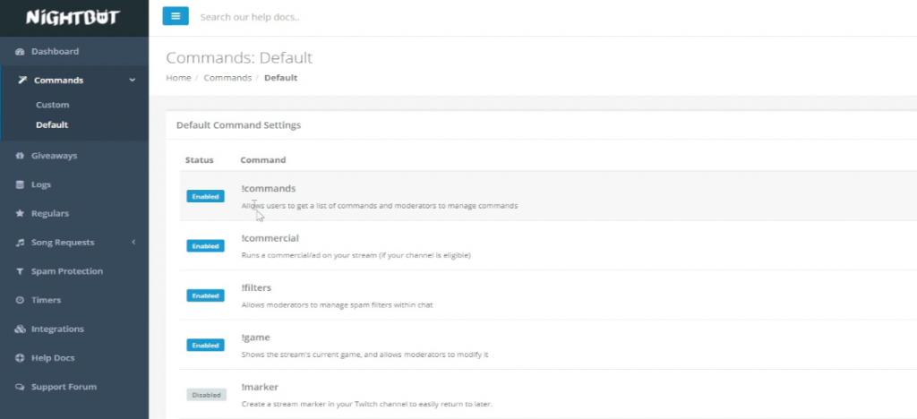 crear comandos de twitch nightbot