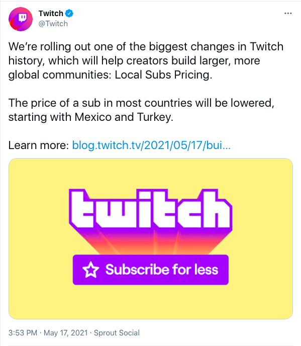 cambios suscripciones twitch